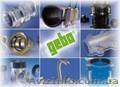 Муфты зажимные Гебо для монтажа и ремонта трубопроводов