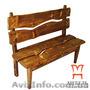 Мебель для комнаты отдыха бани, Скамейка под старину, Объявление #1222692